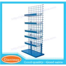 Maschendraht-Boutique-Boden stehende Display-Racks und Ständer mit Korb