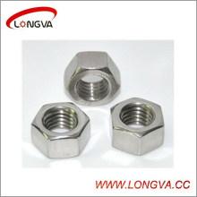 Tuerca hexagonal de acero inoxidable de alta calidad