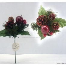 Plastic Decorative filigree Christmas ornament Christmas picks