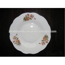 2015 nuevos productos placa de sopa de porcelana de corte de cerámica de 8 pulgadas