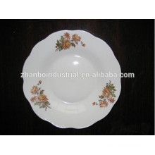 2015 new products 8 inch ceramic cut edge porcelain soup plate