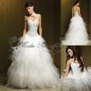 Attractive Strapless Organza Wedding Dress Bridal Dresses