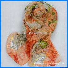beautiful lady print fashion chiffon shawl