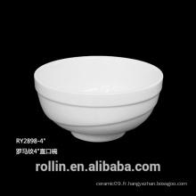 Bol en porcelaine, bol en porcelaine de haute qualité, bol en céramique de ROLLIN