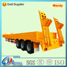 Tri-Axle Lowbed Cargo Semi Truck Trailer with Side Wall and Container Lock (three function trailer)