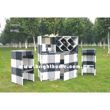 Wicker ao ar livre conjunto cadeira e mesa jardim mobiliário Bp-902