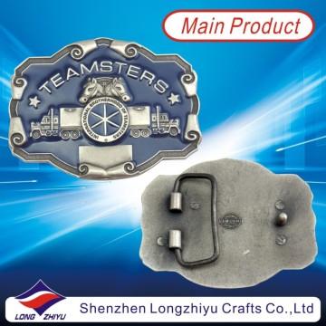 Пользовательские античный имитация 3D Horse Античный никель металлический пояс пряжкой (LZY201300001)