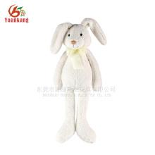 Stuffed plush white rabbit toy