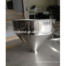 Sanitary Stainless Steel 304/316L Funnel Conical Hopper With Tri Clamp Fitting
