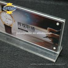 Jinbao double face affichage clair Menu affichage Stand 3mmAcrylic signe titulaire