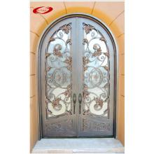 Porte classique élégante en fer forgé avec garniture