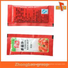 customized small plastic sachet bag for sauce