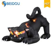 Inflatable Halloween Skeleton Halloween Inflatable Decorations Black Cat