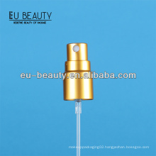 13/415 matt gold perfume bottle sprayer pump for sample use