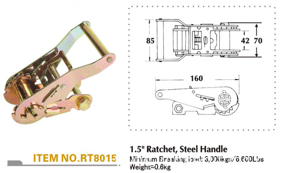 more detailed information of ratchet buckle