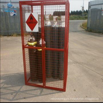 Caja de almacenamiento de seguridad soldada con autógena de la botella de gas del tamaño 10x
