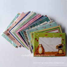 Christmas /Birthday Party Card and Envelop Set with 3D Decorated Die-Cut Photo Window