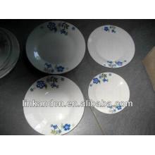 Ensembles de dîner en céramique Haonai brésil en céramique, ensemble de vaisselle blanc