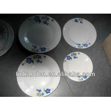 Haonai brazil ceramic dinner plate sets,white dinnerware set