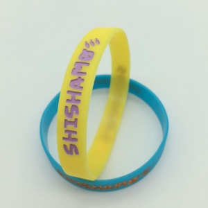 OEM Debossed with Color Filled Silicone Bracelets