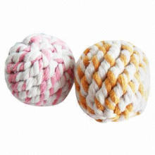 Cotton pet toy/rope balls, various sizes are available