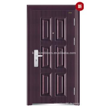 Stahl Edelstahl Tür / Main Tür KKD-339 für 2014 neu entwerfen und Farbe mit CE, BV, ISO, SONCAP