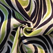 Tela de rayón de lino impreso camisa (qf13-0201)