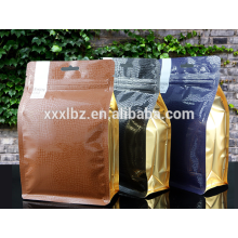 Eight side sealed food packaging , plastic bag for food packaging