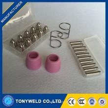 Hochwertige Plasmaschneider Brenner Verbrauchsmaterial Kits für AG60 SG55 gesetzt
