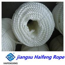 Spot Supply 3/4 hilos de PP blanco, cuerda de amarre, calidad exportada