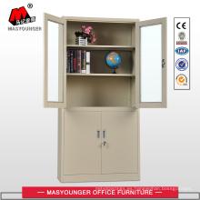 Armario de oficina de metal de cuatro puertas