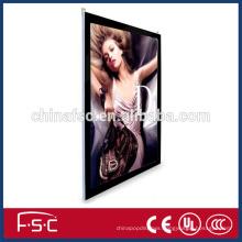 Economic price compact super slim led magnetic wirless light box