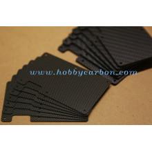Carteira de cartão de bloqueio de RFID carteira de fibra de carbono carteira fina