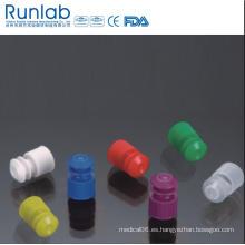 Tapones de tubo de plástico con tapón de brida