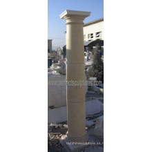 Piedra de mármol granito piedra arenisca columna (QCM115)