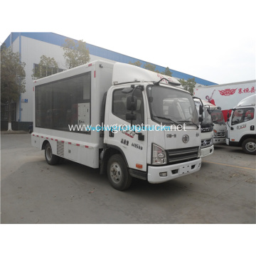 FAW 4x2 hydraulic semi mobile stage trucks