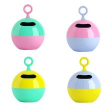 Color de moda redonda caja de plástico de tejido de diseño (zjh027)