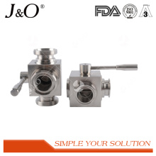 Super Sanitary 3 Way Male Ball Valve