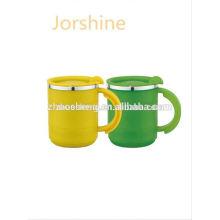 mejor venta personalizado diario necesita tazas de café de acero inoxidable con tapa