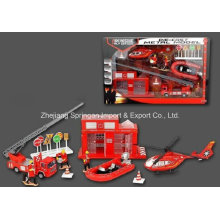 Die Cast Metal Car Play Set Toy-P/B Firefighting Play Set Two