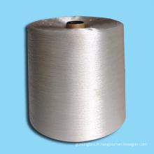 Fils de fibres naturelles de coton en bambou teintées en bonne santé et solides