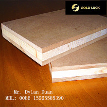 Paneles de carpintería - Paneles laminados de melamina con núcleo de álamo