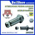 M6/M8/M10 Carbon Steel Color Zinc Plated Expansion Anchor Bolt