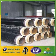 ERW isolamento térmico revestido api5l lsaw tubos de aço