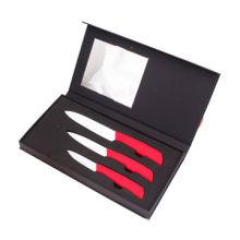 Elegant 3pcs Ceramic Knife Set in Gift Box