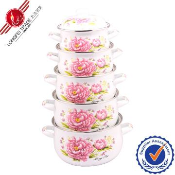 806D New Design Enamel Cookware White Enamel Pot Enamel Cookware Cast Iron Enamel Pot