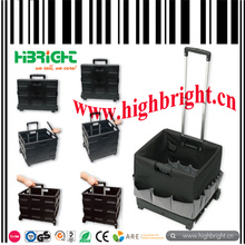 Hdpp Plastic Folding Square Cart with Polyester Tool Bag