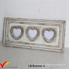 Marcos de madera de la apertura del corazón del amor de la pared