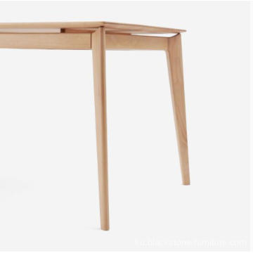 Solid Beech Wood Dining Table