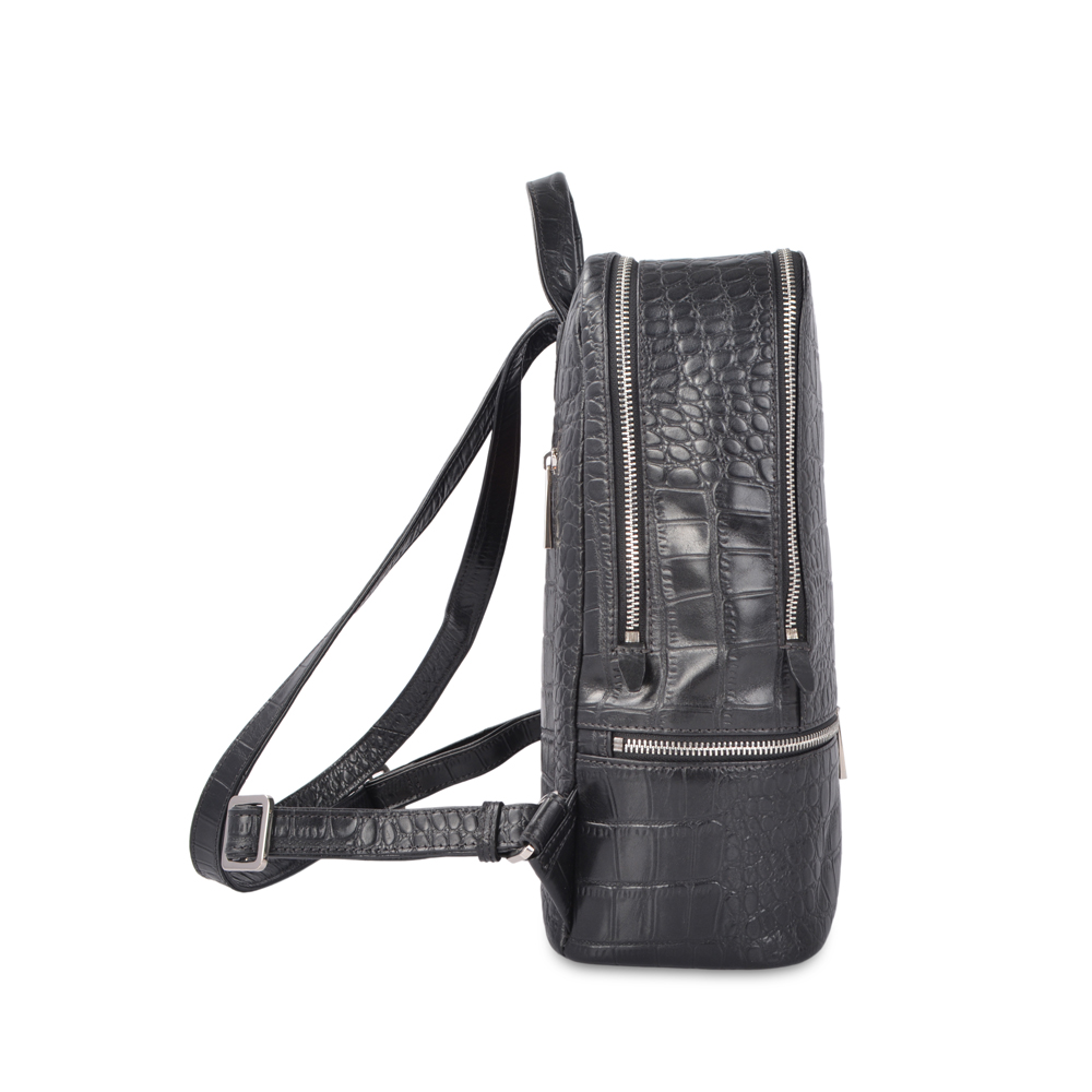 Best selling fashion design women crocodile skin leather backpacks